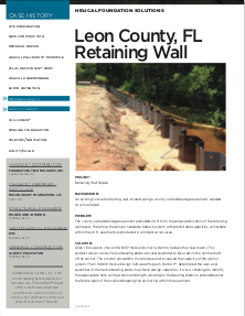 Leon County Retaining Wall