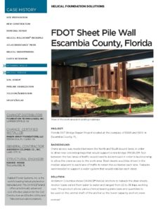 Florida DOT Sheet Pile Wall