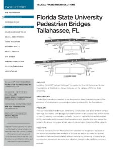 Florida State Pedestrian Bridges